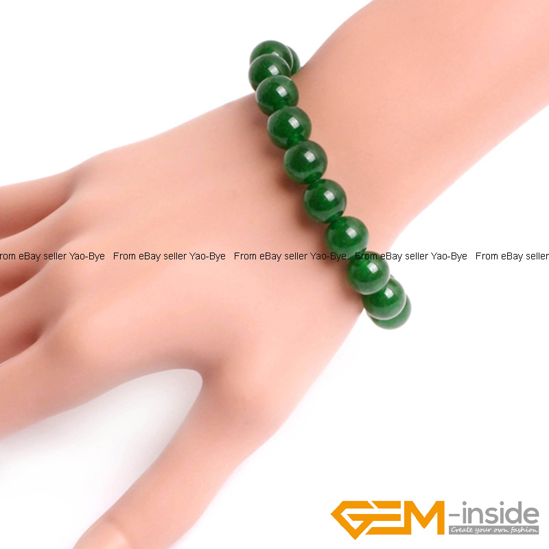 Wholesale-Lot-Handmade-Fashion-Jewelry-Assorted-Colors-Beaded-Jade-Bracelet-7-5-034 thumbnail 30