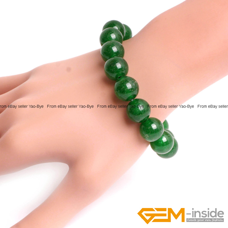 Wholesale-Lot-Handmade-Fashion-Jewelry-Assorted-Colors-Beaded-Jade-Bracelet-7-5-034 thumbnail 32