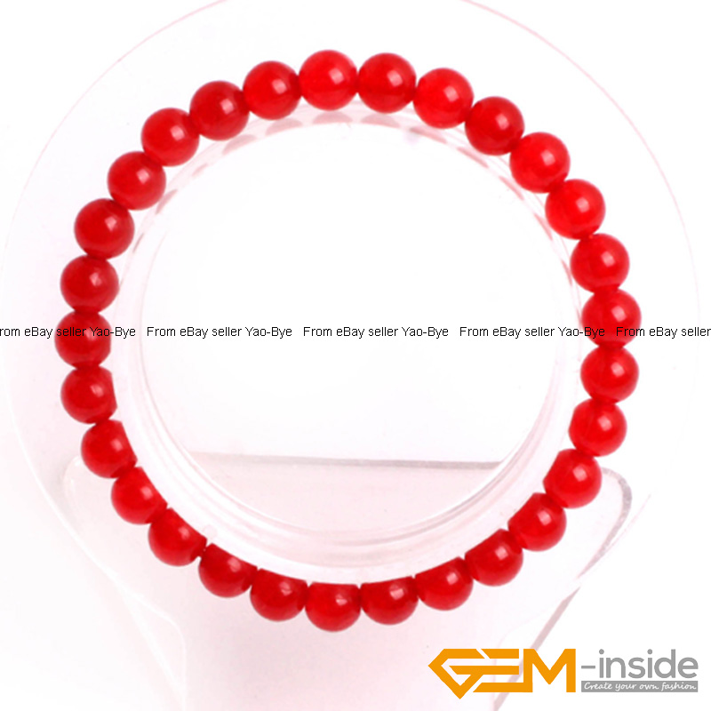 Wholesale-Lot-Handmade-Fashion-Jewelry-Assorted-Colors-Beaded-Jade-Bracelet-7-5-034 thumbnail 16