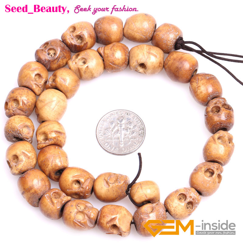 Big Hole Column Carved Bone Skull Beads For Jewelry Making Strand 16 1 2mm Hole Innovatis Suisse Ch