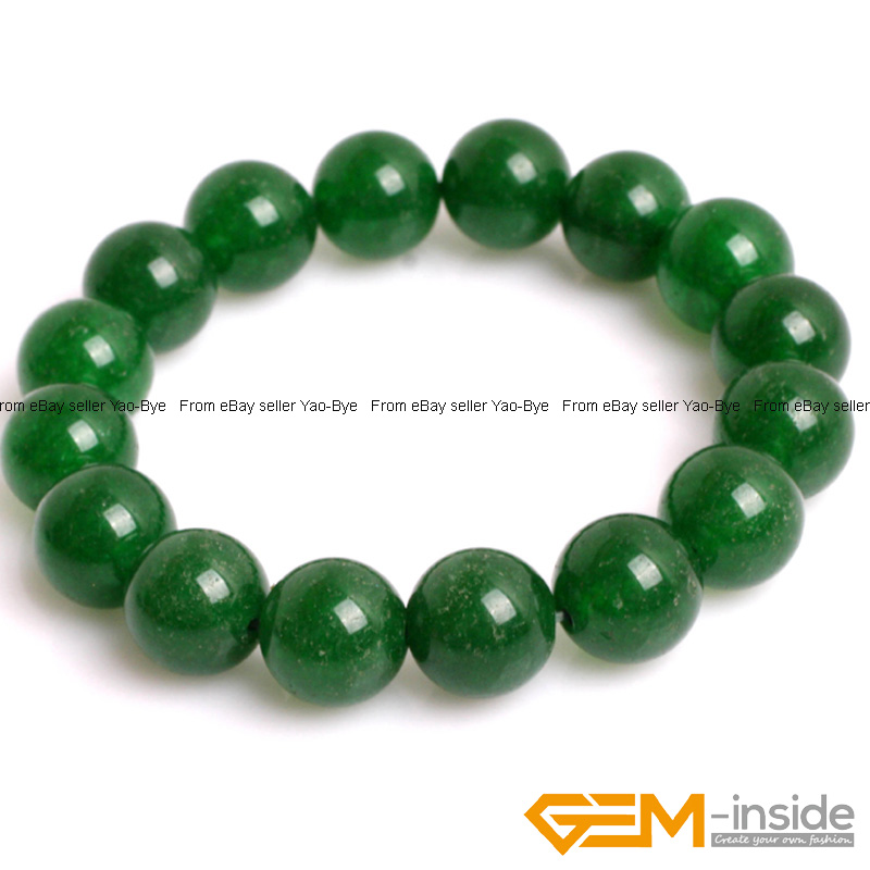Wholesale-Lot-Handmade-Fashion-Jewelry-Assorted-Colors-Beaded-Jade-Bracelet-7-5-034 thumbnail 29