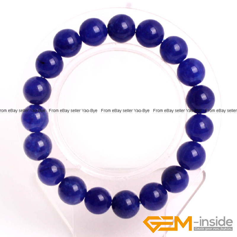 Wholesale-Lot-Handmade-Fashion-Jewelry-Assorted-Colors-Beaded-Jade-Bracelet-7-5-034 thumbnail 60