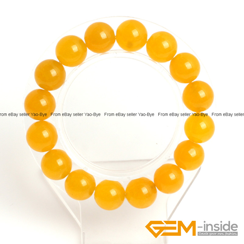 Wholesale-Lot-Handmade-Fashion-Jewelry-Assorted-Colors-Beaded-Jade-Bracelet-7-5-034 thumbnail 84