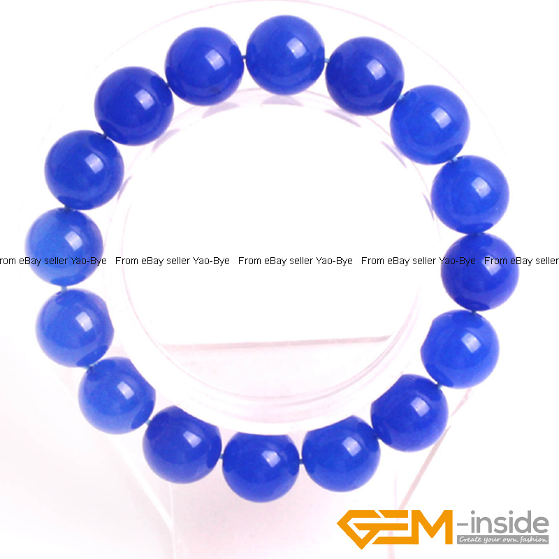 Wholesale-Lot-Handmade-Fashion-Jewelry-Assorted-Colors-Beaded-Jade-Bracelet-7-5-034 thumbnail 62