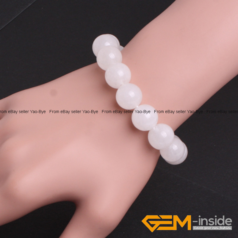 Wholesale-Lot-Handmade-Fashion-Jewelry-Assorted-Colors-Beaded-Jade-Bracelet-7-5-034 thumbnail 96