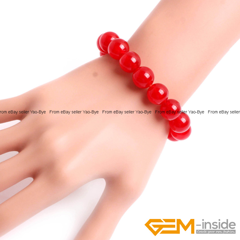 Wholesale-Lot-Handmade-Fashion-Jewelry-Assorted-Colors-Beaded-Jade-Bracelet-7-5-034 thumbnail 23