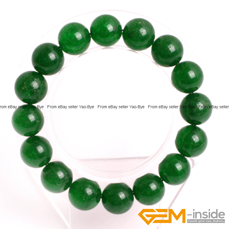 Wholesale-Lot-Handmade-Fashion-Jewelry-Assorted-Colors-Beaded-Jade-Bracelet-7-5-034 thumbnail 31