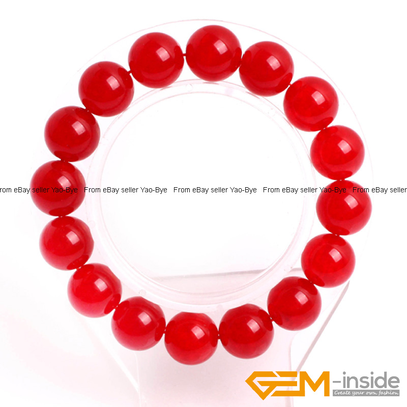 Wholesale-Lot-Handmade-Fashion-Jewelry-Assorted-Colors-Beaded-Jade-Bracelet-7-5-034 thumbnail 20