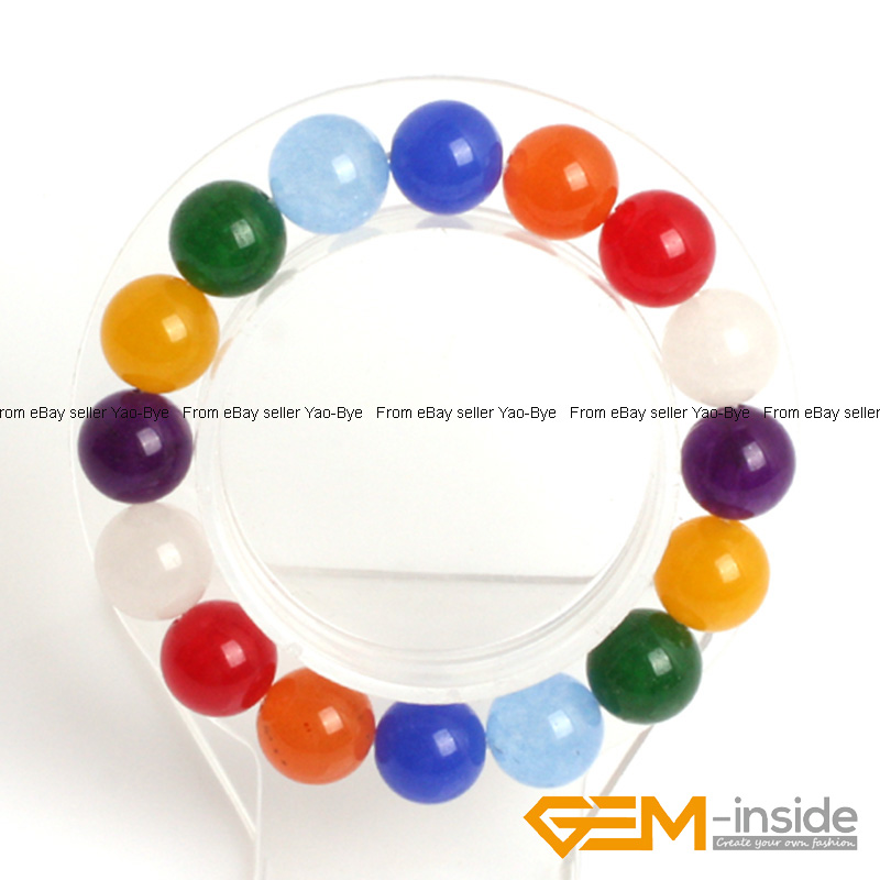 Wholesale-Lot-Handmade-Fashion-Jewelry-Assorted-Colors-Beaded-Jade-Bracelet-7-5-034 thumbnail 106