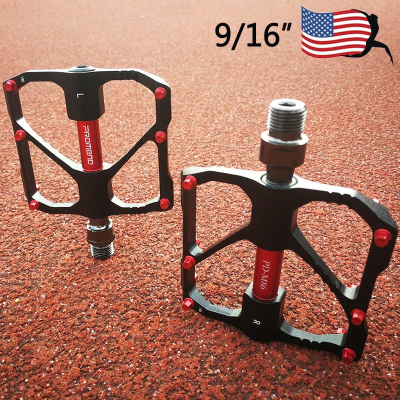 "PROMEND 9//16/"" Aluminum MTB Road Bike//Bicycle Pedal M86//R87 Fit SHIMANO//SRAM//FSA"