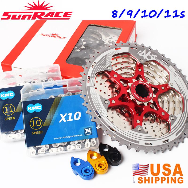 SUNRACE 8//9//10//11s 11-40//42//46t Detachable MTB Cassette KMC Chain Sprocket Hook