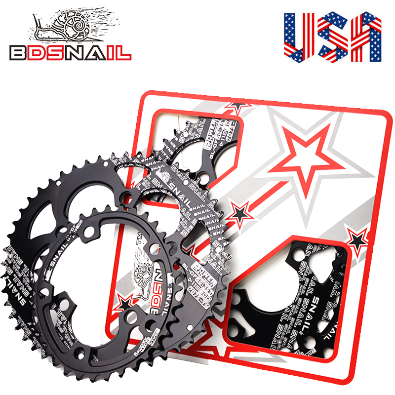 SNAIL 110bcd Road Bike 50//35T Double Speed Oval Black Chainring Gift 5pc Bolts