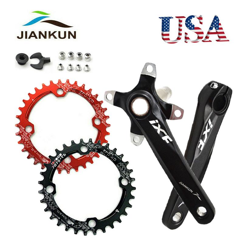 104BCD 64BCD Crankset 170mm Crank MTB Bike 32-42T Narrow Wide Aluminum Chainring