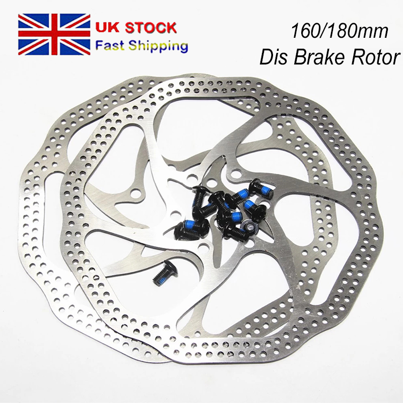 MTB Bike Rotor 160mm//180mm Disc Brake 6 Bolts Rotor Torx Wrench T25 12PCS Screws