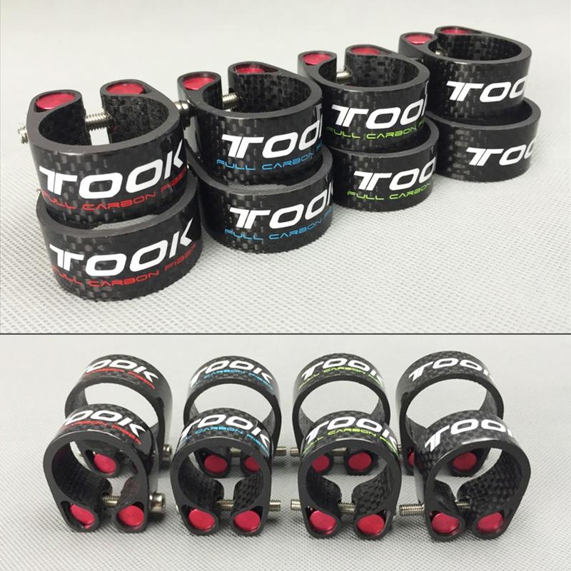 TOSEEK 27.2//30.8//31.6mm Bike Seatpost Clamp Carbon Fibre Lock Seat Tube Clamp