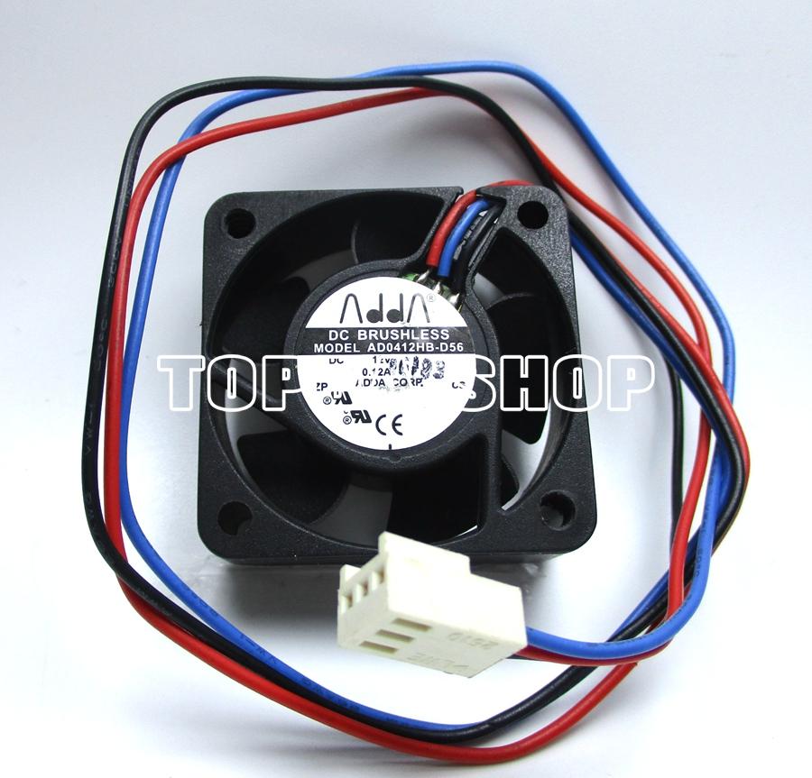 FOR ADDA 4015 AD0412HB-D50 4cm 40mm 12V 0.12A Cooling Fan