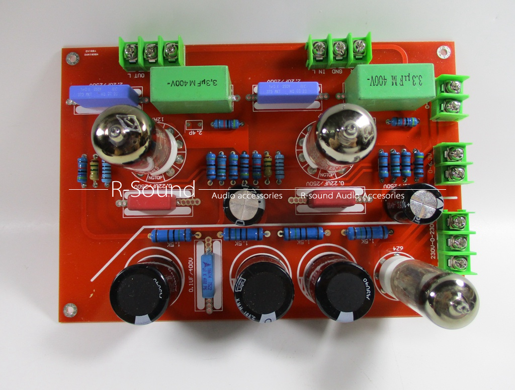6n412ax7 Vacuum Tube Preamplifier Board Reference Quad 22 Circuit 12ax7 Preamp Hifi