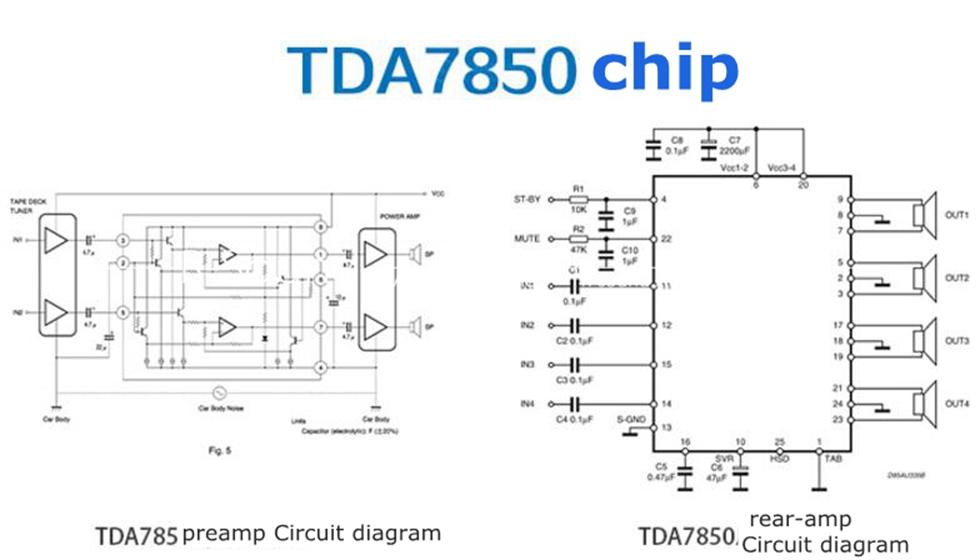 tda7850 car audio 4 channel power amplifier board car amp 50w 4 rh ebay com