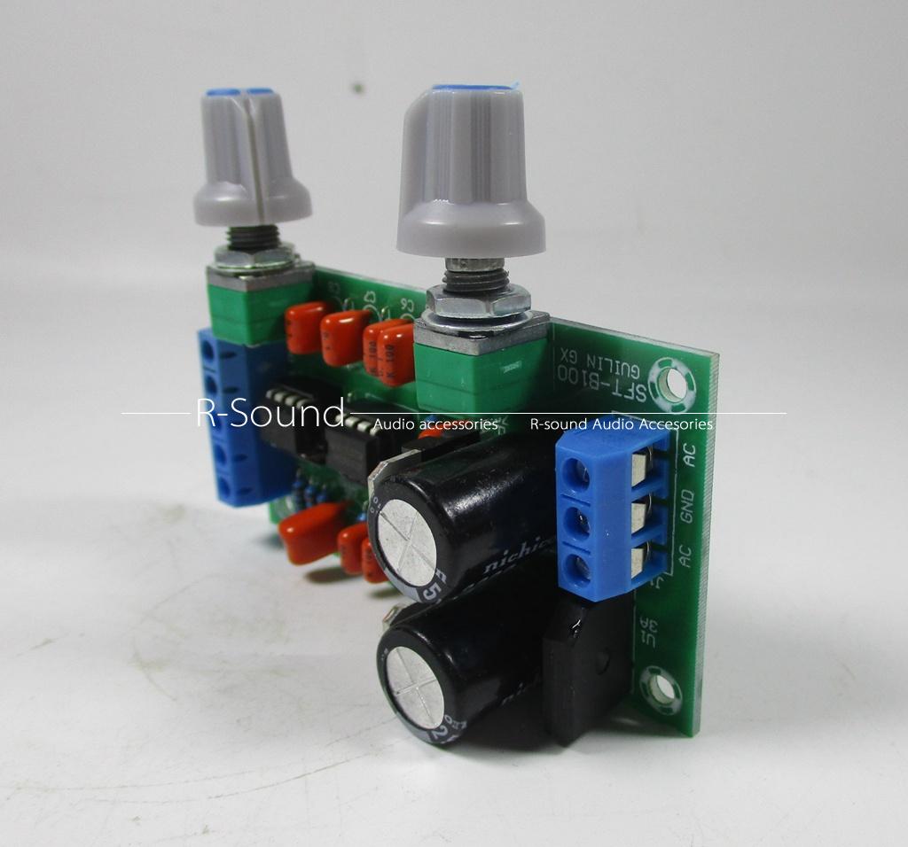 Hifi Subwoofer Low Pass Filter Circuit Board Preamplifier Lowpass Frequency Ne5532 Opamp Chip Input Interface
