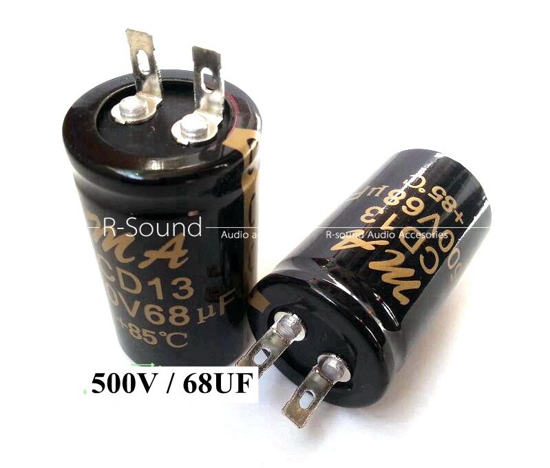 85℃ 1pc 500V high voltage electrolyte capacitor 16UF 22UF 33UF 47UF 68UF 100UF