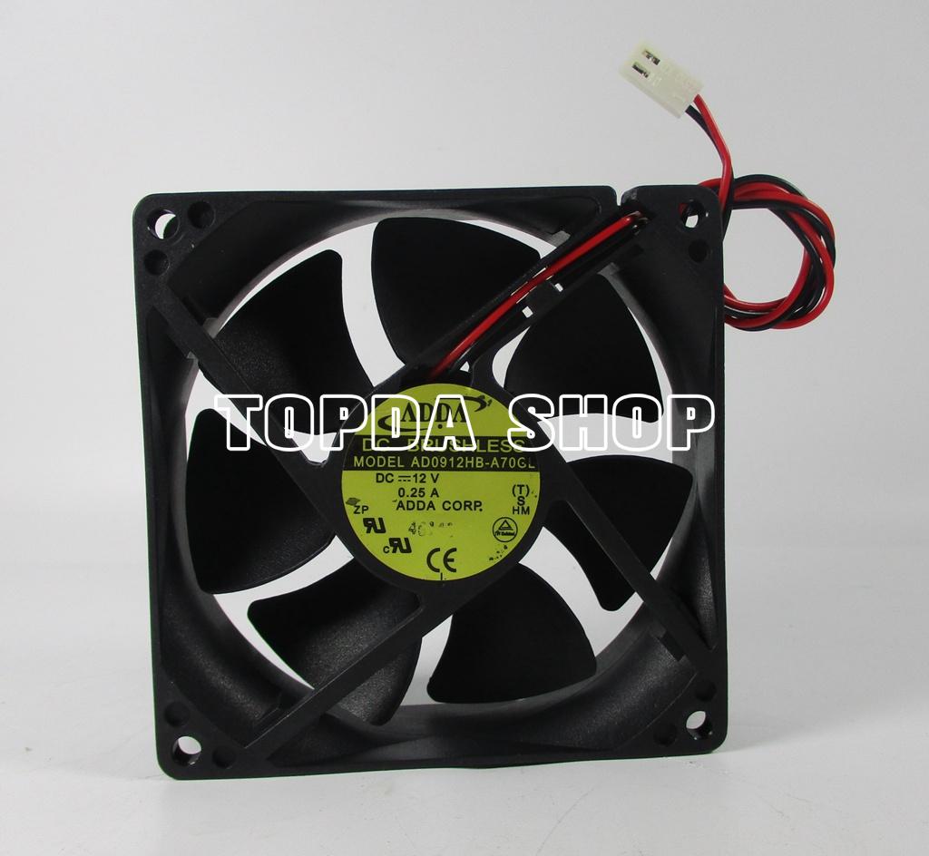 Original FOR ADDA AD0812HS-A70GL 8025 DC12V 0.25A 8cm case cooling fan