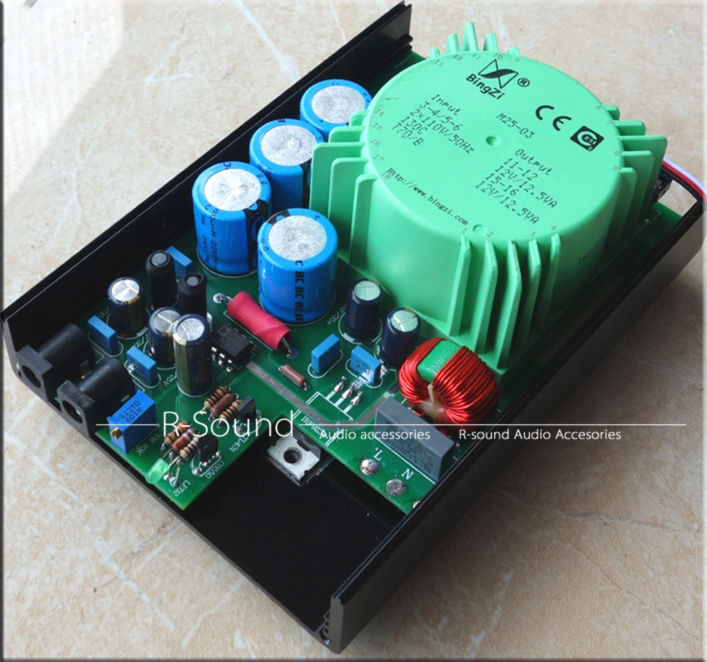 SUPER 3.5A DC Linear Regulator Power Supply W//25W Green Transformer Dual Output