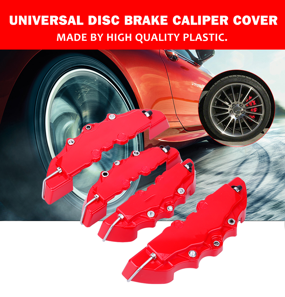 4pcs Gold AMG Disc Brake Caliper Cover for Mercedes AMG for 17-18 inch wheel