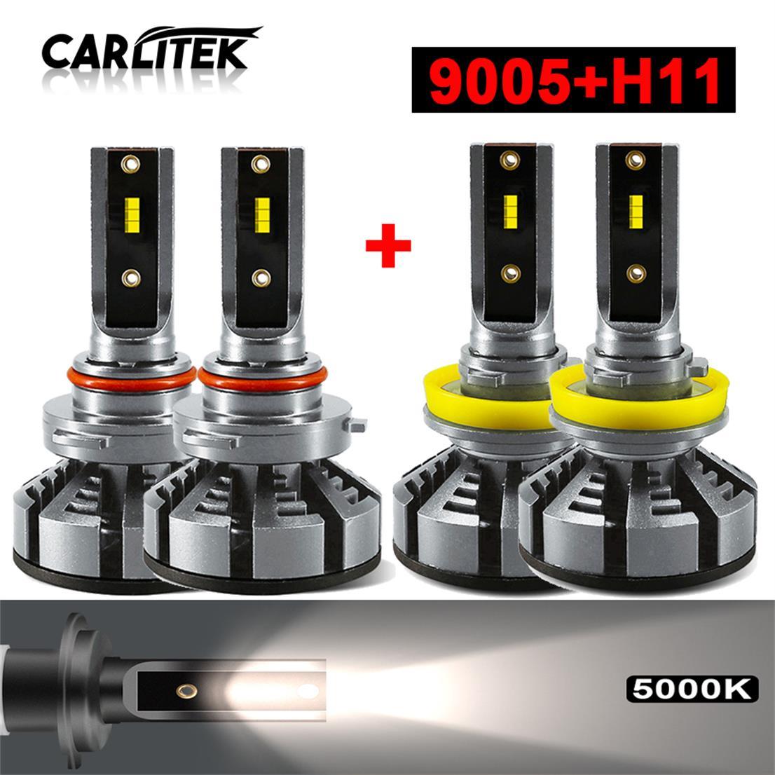 Combo 9005 H11 LED Headlight Kit for Chevy Silverado 1500 2008 2009 Hi//Lo Beam