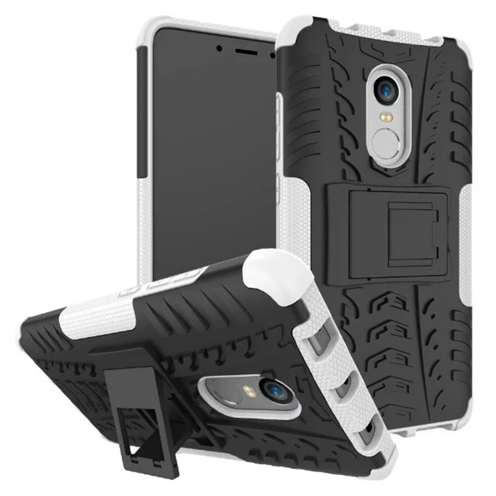 Details about For Xiaomi Redmi Note 4 4X Hard Hybrid Double Armor Stand Shockproof Case Cover