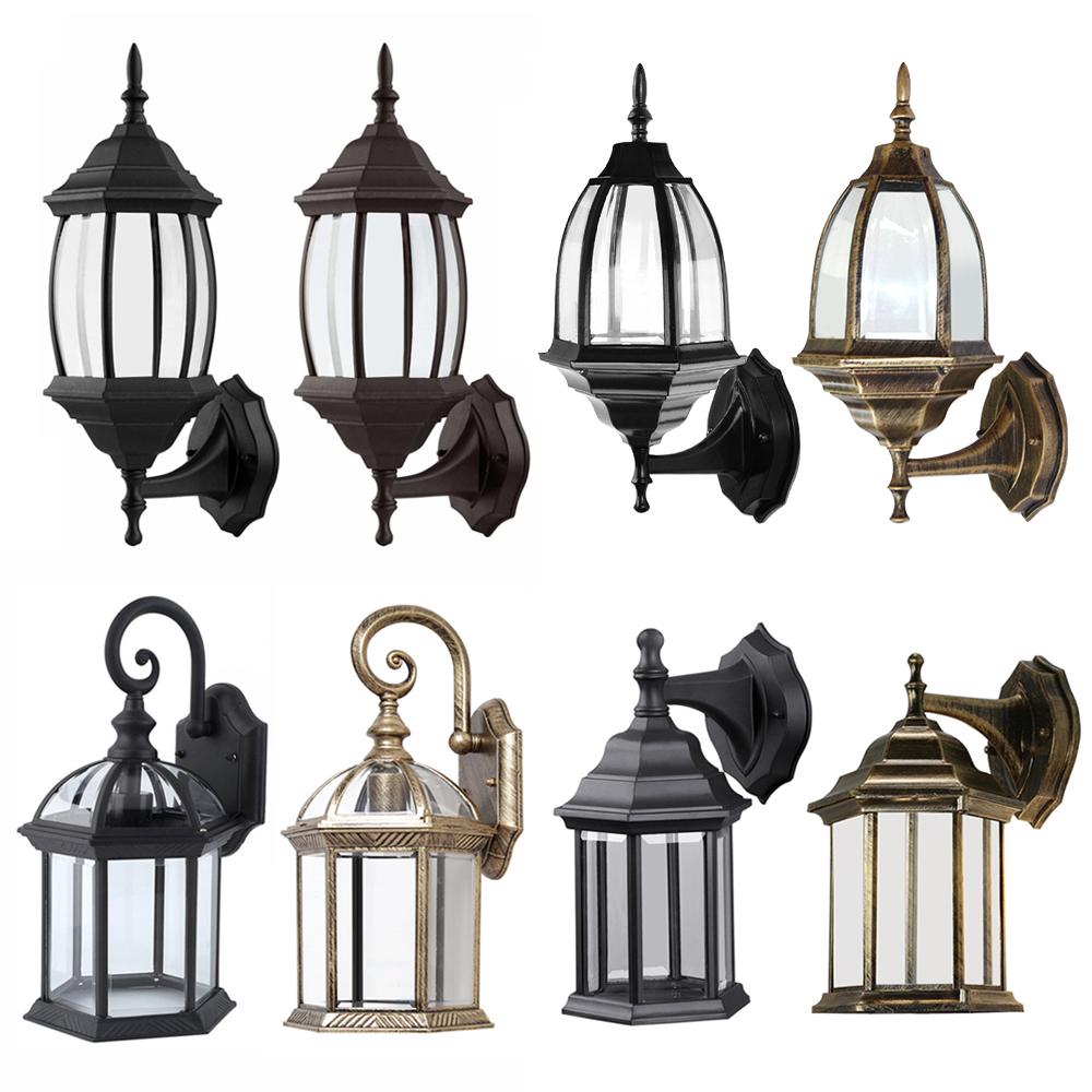 Details About Antique Outdoor Wall Light Lamp Lantern Sconce Exterior Porch Lighting Fixture
