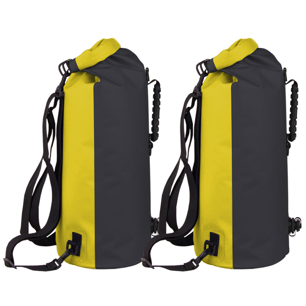 234a3e0305 Details about 2PCS-60L Waterproof Floating Dry Bag Backpack Drift Canoe  Kayak Fishing Day Pack