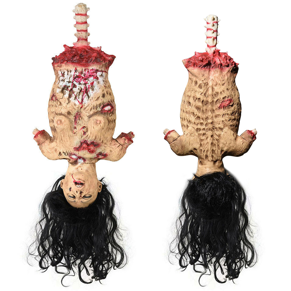 Scary Halloween Prop Limbless Woman Corpse Hanging Haunted