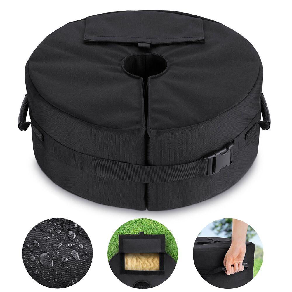 "15/""//18/"" Outdoor Patio Beach Canopy Umbrella Base Sand Bag Weight 3/"" Hole"