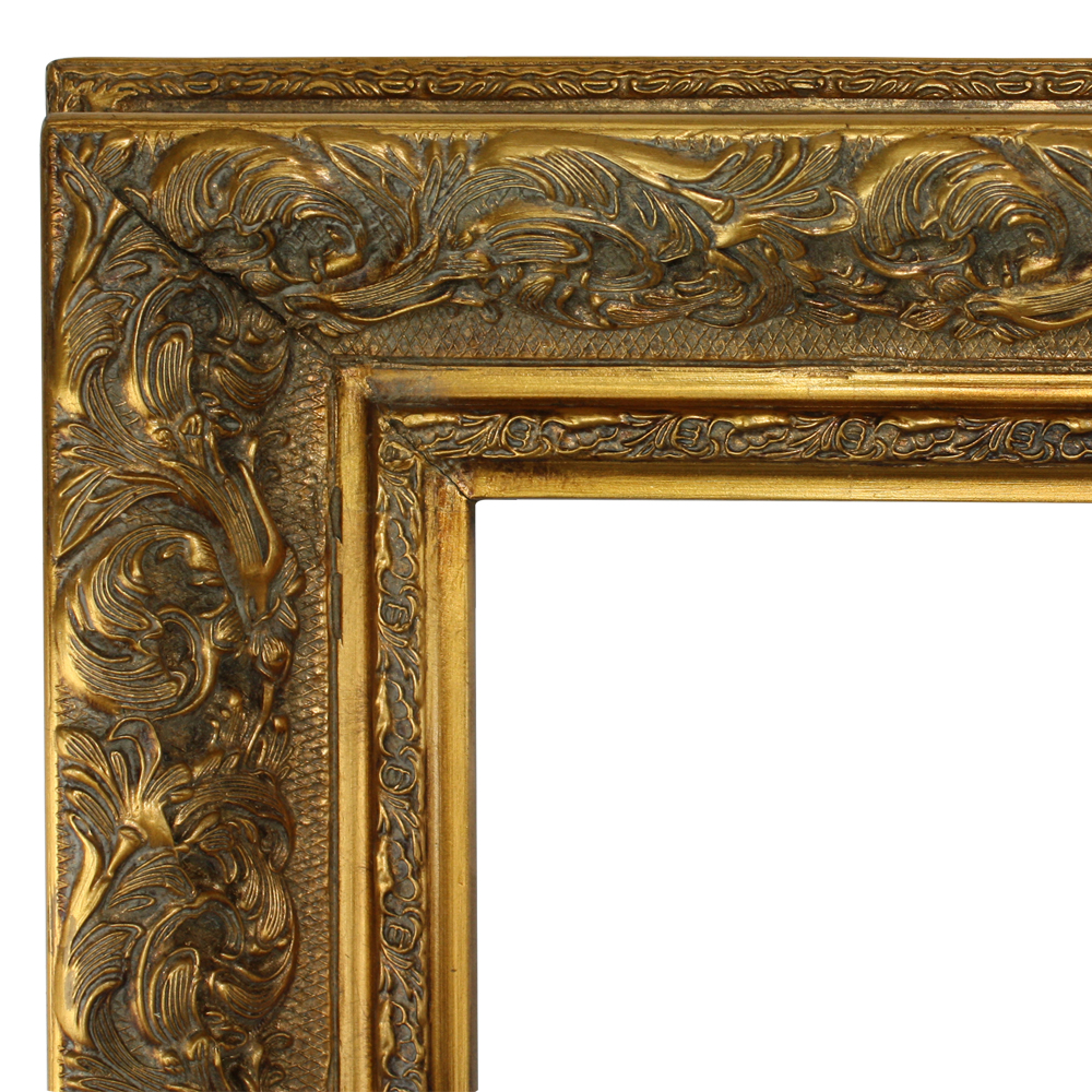 Luxury Vintage Oil Painting Frame Wood Engraving Flower Antique Wall Decor