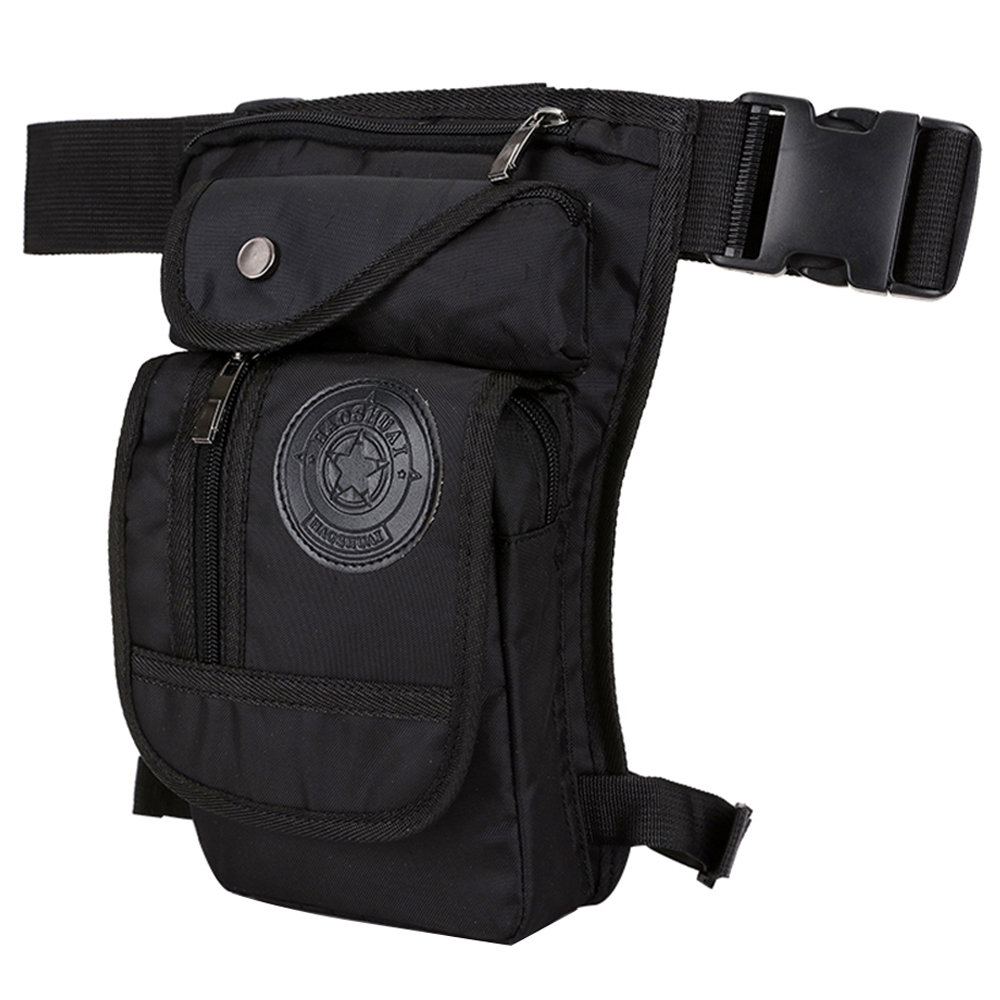 Details About Men S Motorcycle Drop Leg Bag Outdoor Tactical Thigh Pouch Hip Waist Pack