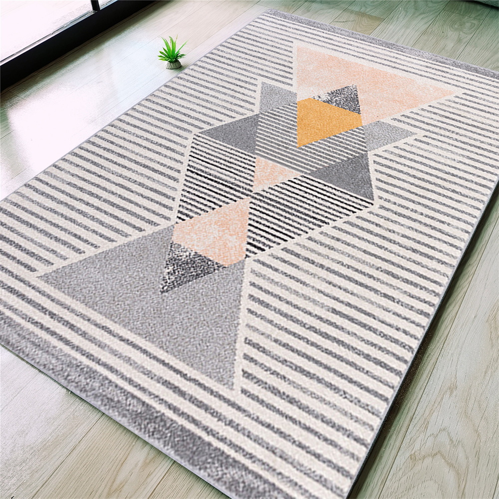 Modern Rugs Area Carpet Crystal Velvet Rhombus Contemporary Indoor