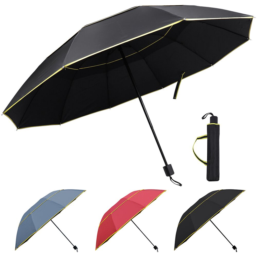 33216a45a72f Details about Large Oversize Golf Umbrella Men Women Windproof Rain Sun  Folding Double Canopy
