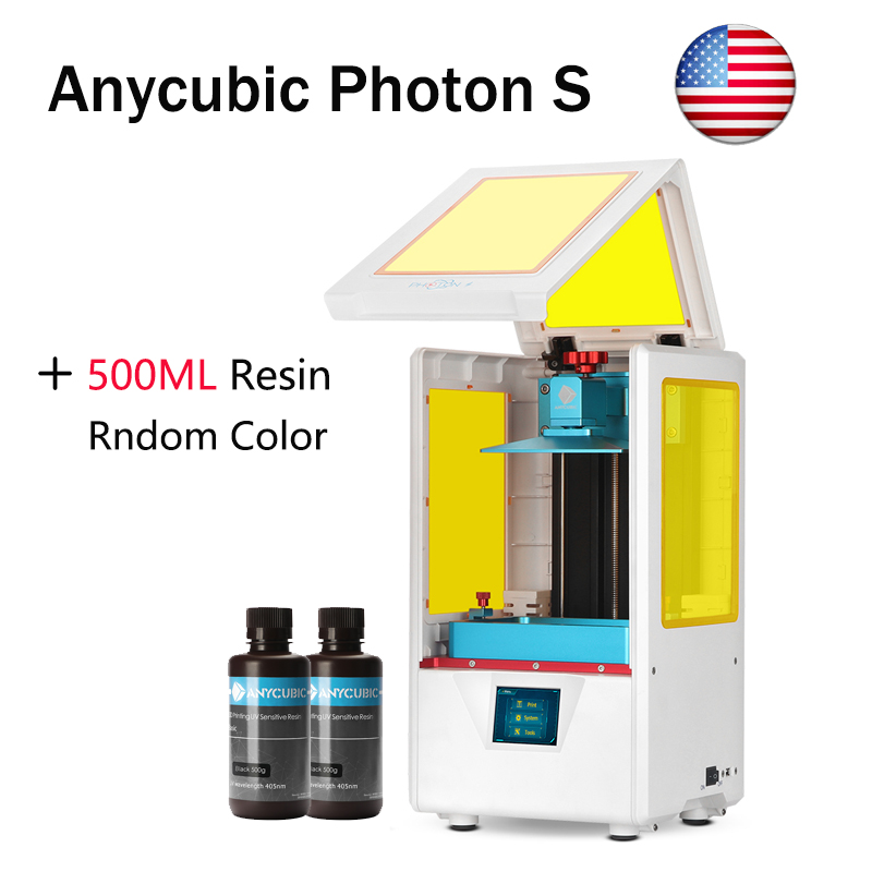 Details about ANYCUBIC Photon S LCD 3D Printer Matrix UV light Dual Z-axis  Extra 500ml Resin