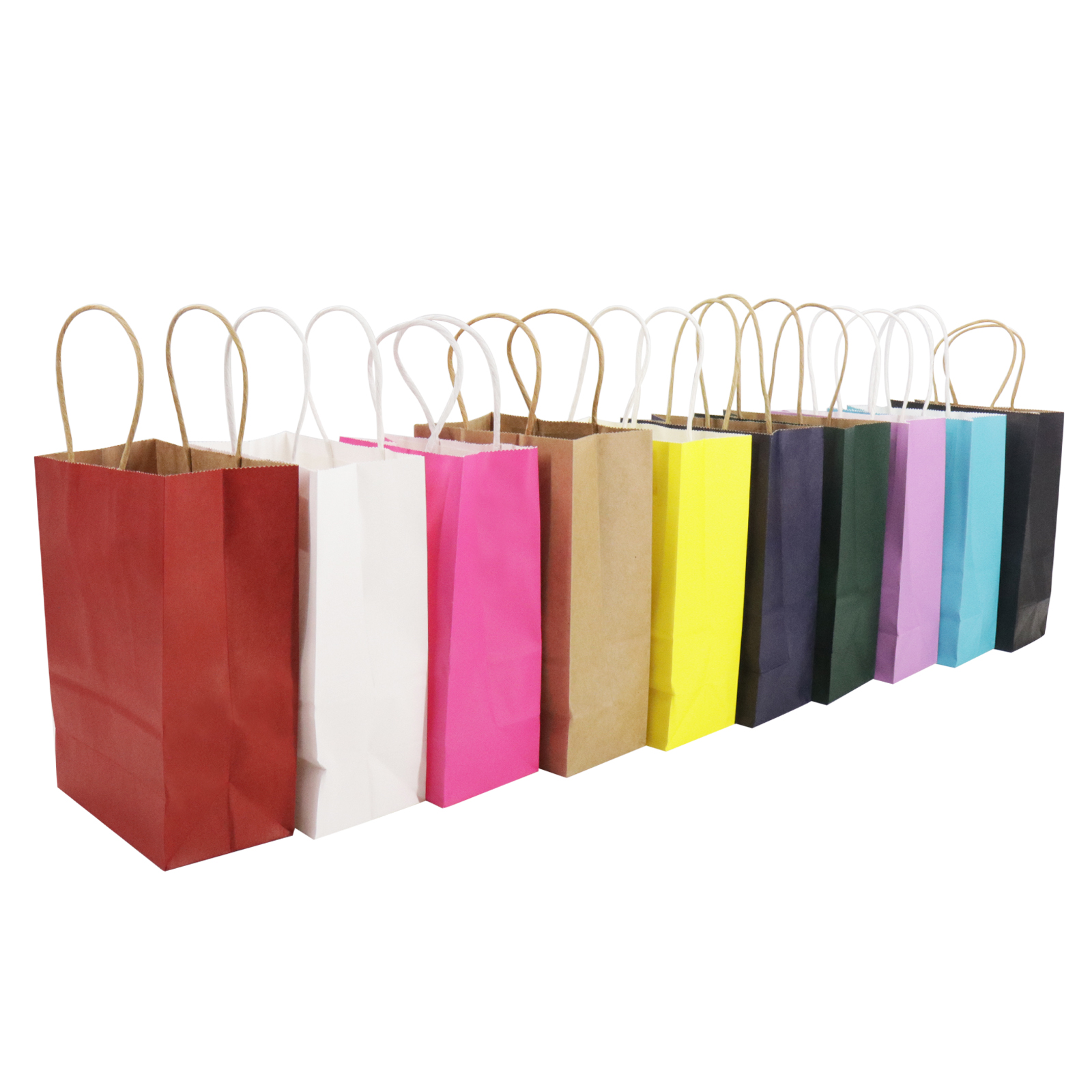 1 50 Bright Paper Party Bags Gift Bag With Handles