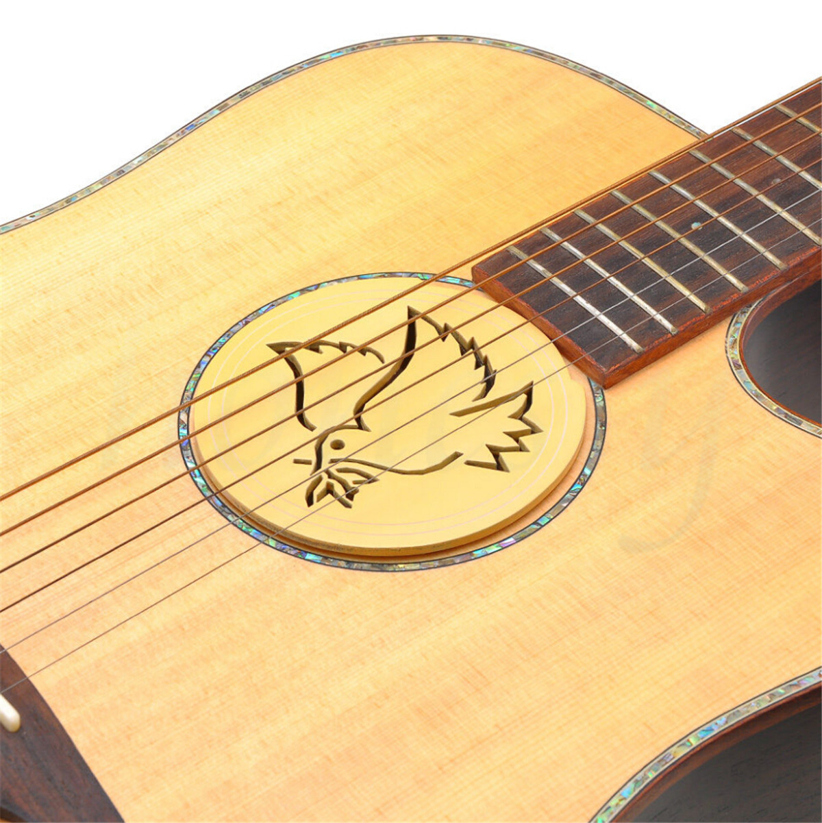 soundhole cover for acoustic guitar feedback buster sound buffer hole protector ebay. Black Bedroom Furniture Sets. Home Design Ideas