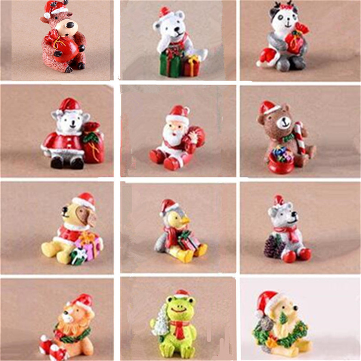 mini christmas resin animals fairy garden house landscape craft decor xmas gift