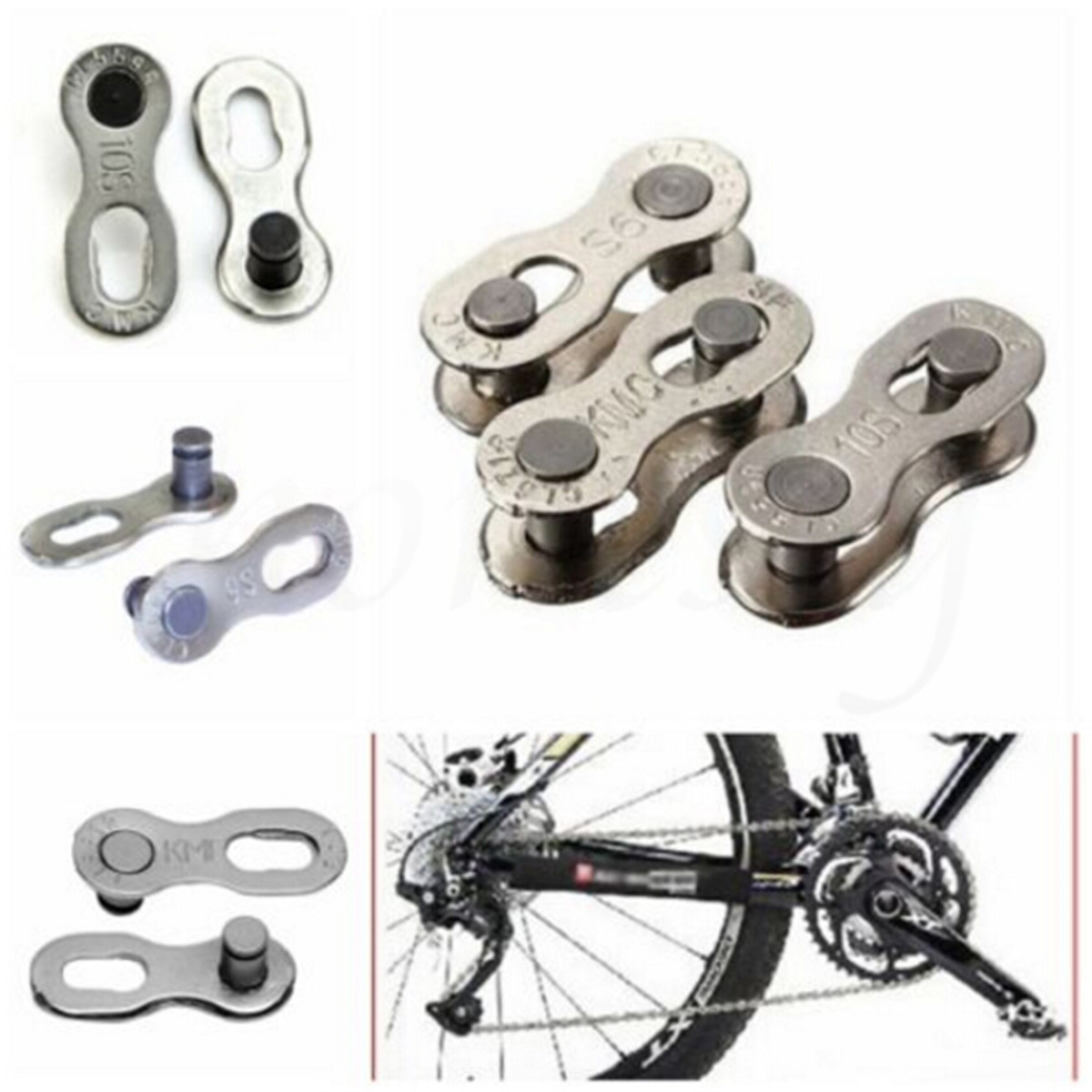 Bike Chain Connector Silver Link Metal Joint For 6S//7S//8S//9S//10S Speed 10 pairs