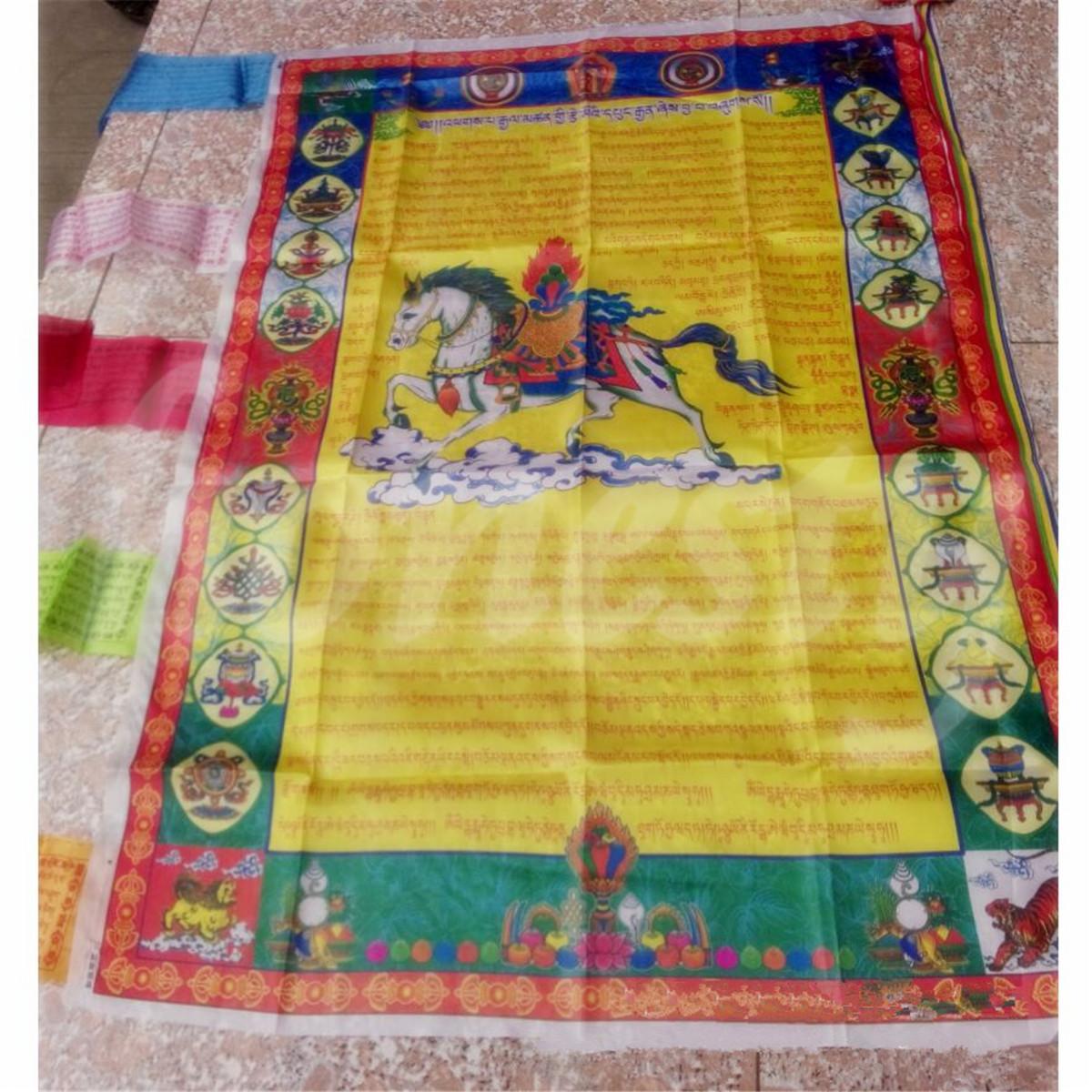 Tibetan Buddhist Windhorse Buddha Prayer Flag For Buddhism Medicine ...
