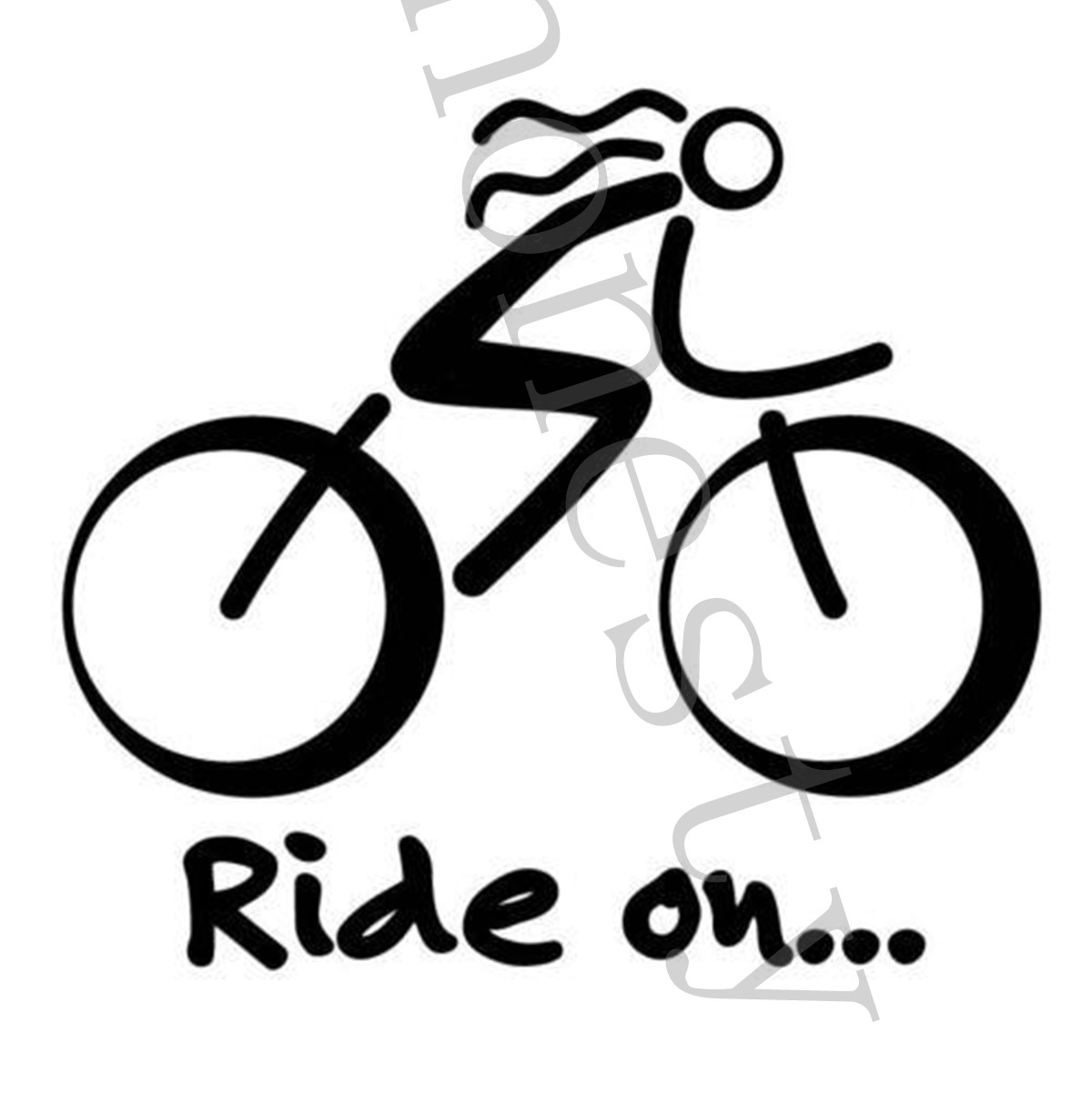 Details about bike sticker bicycle sport biking bike cycling car wall window decal sign vinyl