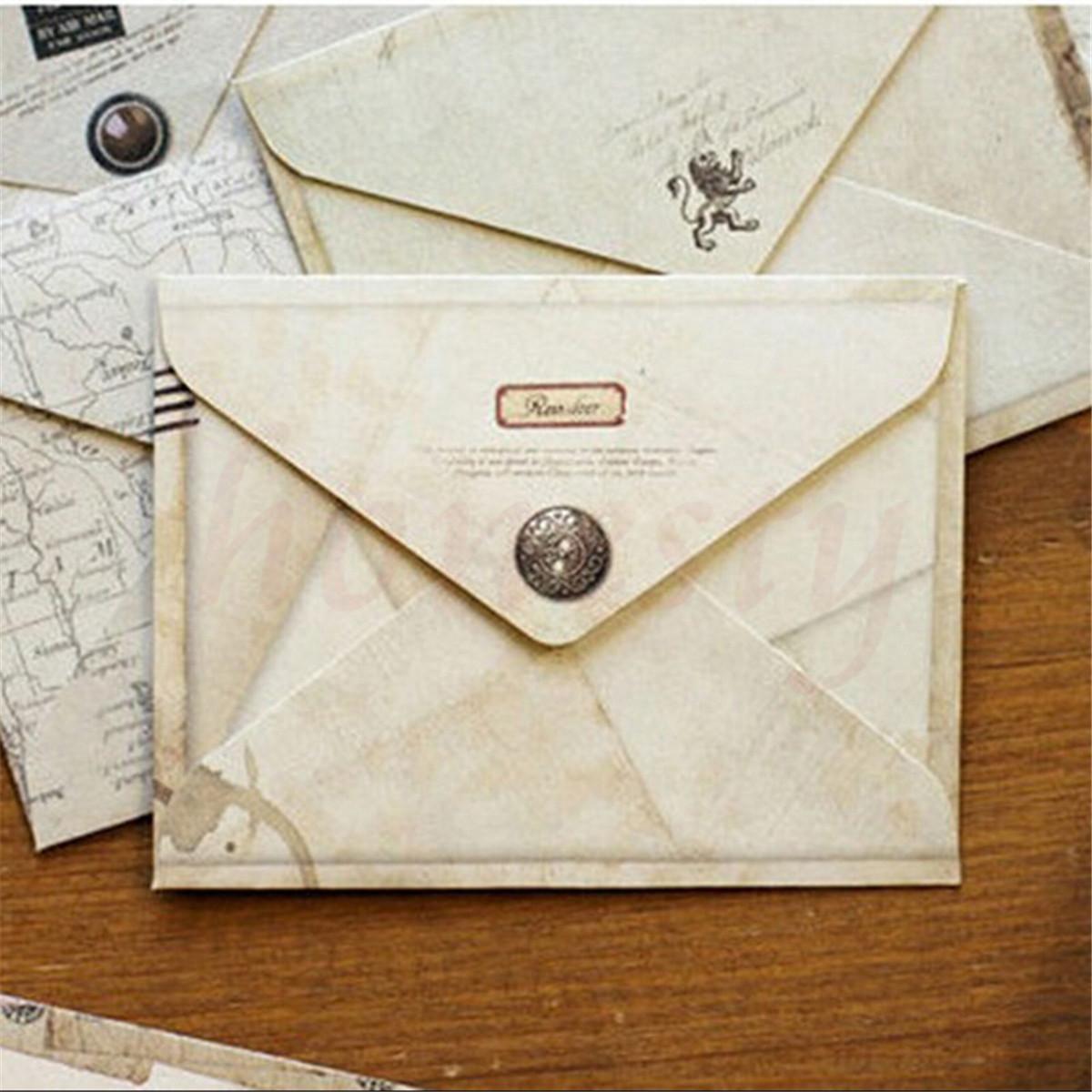 12pcs vintage home office stationery mini paper ancient envelope