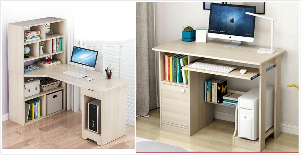 Computer Desk Bookshelf Bookcase Keyboard Drawer Shelf Corner Study Pc Table Uk