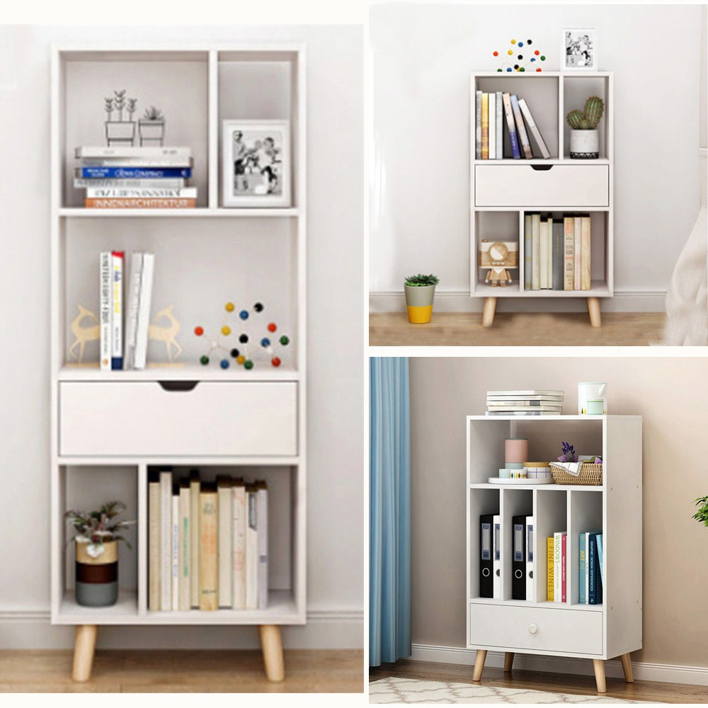 4 5 Cubes Storage Cabinet Bookshelf Bookcase Drawer Shelf Divider Display Unit