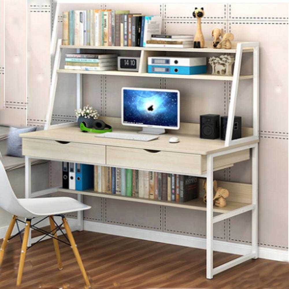 Bureau Informatique Petit Espace détails sur 120cm table d'ordinateur bureau informatique poste de travail  Étagère 2 tiroirs
