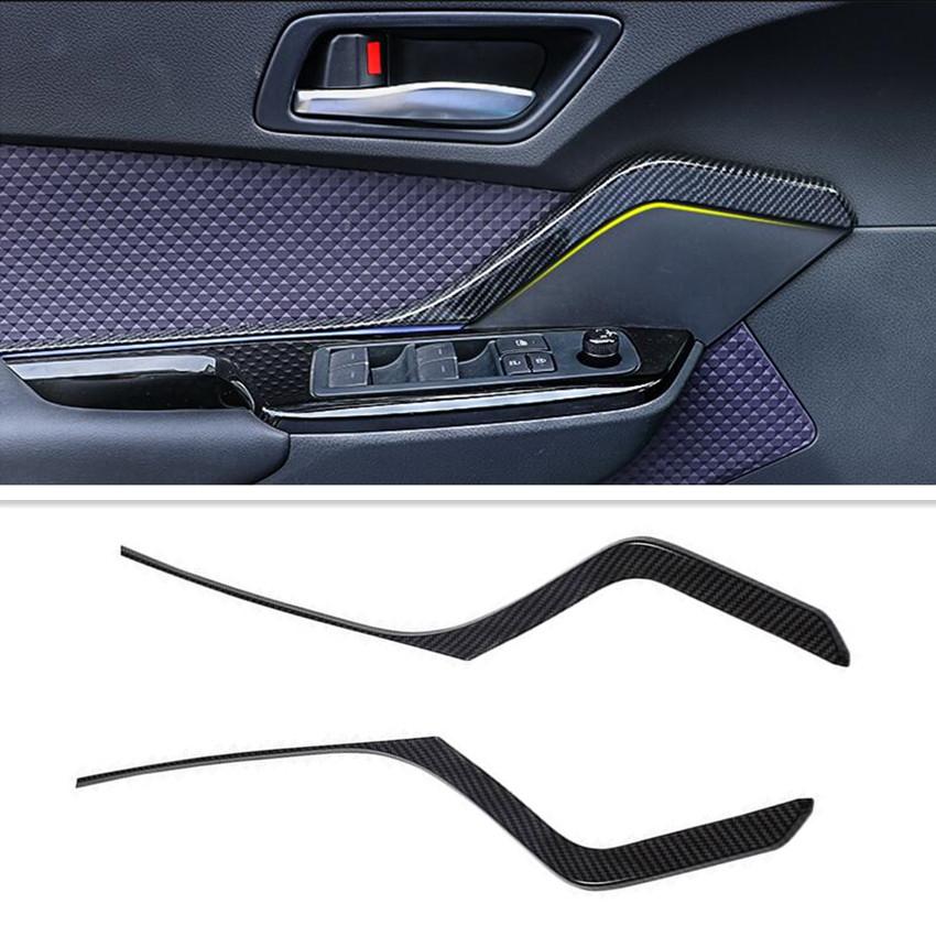 Carbon Fiber Armrest Box Decor Cover Trim fit for Toyota C-HR CHR 2016-2019 New