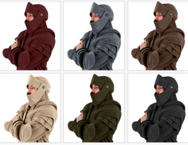 Details about Solid color Medieval Vintage Soldier Knight Mask Armor Sweater  Jacket Hoodie d84d29679e56